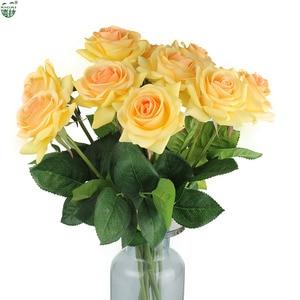 Image 5 - (شراء 2 مجموعة الحصول على إضافي 10% OFF) 11 أجزاء/وحدة الرئيسية/ديكور زفاف صناعي زهرة العروس باقة اللاتكس وردة بملمس طبيعي الزهور