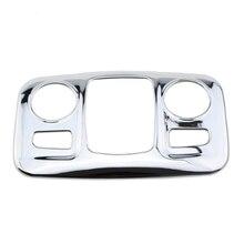 Puledro Che Brucia ABS Chrome Copertura Della Lampada Della Luce di Lettura Auto Paillette Sticker per Peugeot 2008 2014-2017 Modificato Accessori