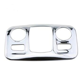 Potro Queima ABS Chrome Tampa Da Luz Da Lâmpada de Leitura Do Carro Lantejoulas Caso Adesivo para Peugeot 2008 2014-2017 Modificado Acessórios