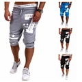 2016 Men's Hip hop Number 7 Printed Joggers Men's active Shorts Bottoms    Short Trousers man  bermuda