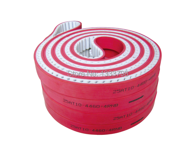 Strong steel core inside 10mm pitch pu closed belt with red rubber coation fast deliver 15mm width t5 steel core endless timing belt closed loop pu belt
