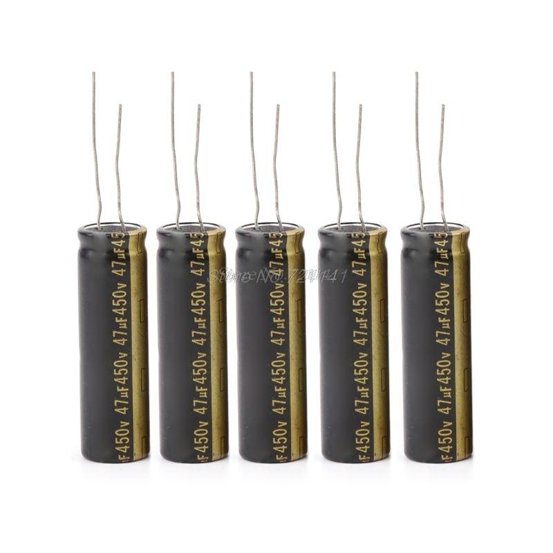 5 шт. 450V 47 мкФ Алюминий электролитические конденсаторы для ЖК-дисплей ТВ светодиодный 13x42 мм