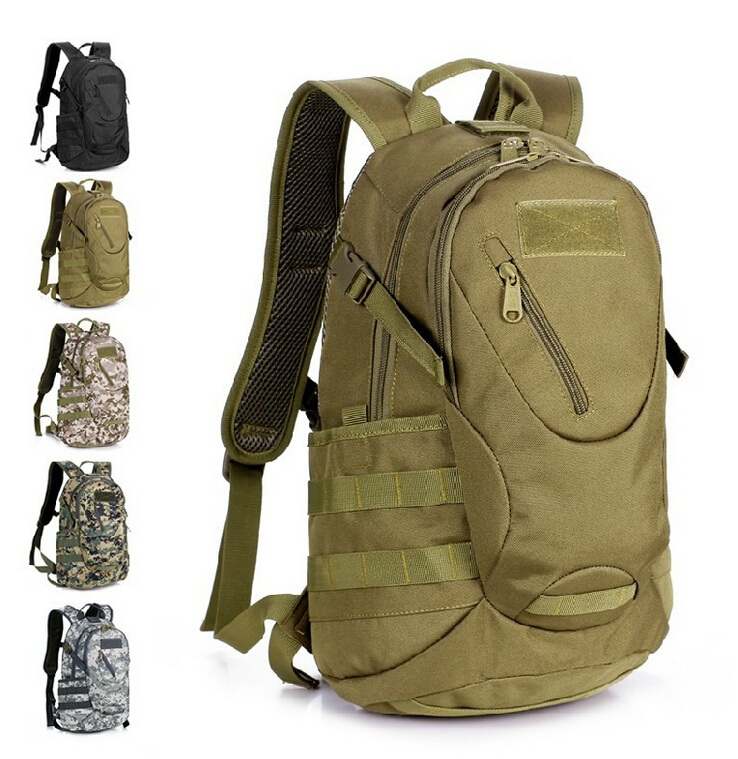 Male outdoor camo Camouflage small women waterproof mountaineering tactical travel laptop surplus 20L Lightweight backpack bag  -  Hard-working people store