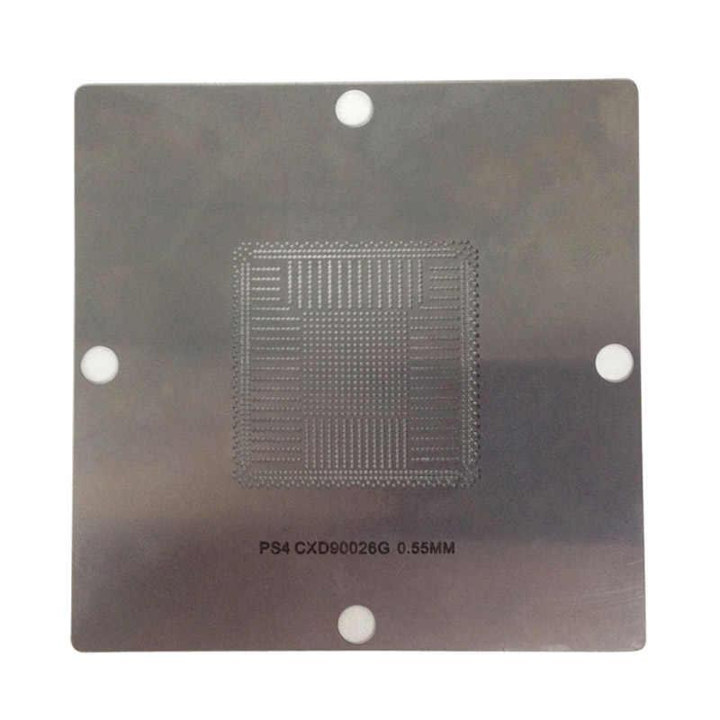 90x90mm de esferas de solda BGA reballing stencils template aço para PS4 BGA reball estação de solda IC