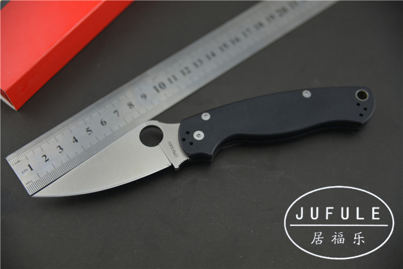 JUFULE YIDU OEM military C81 Folding tactical Knife G10 S30V steel Camping Hunting MULTI Survival Knives