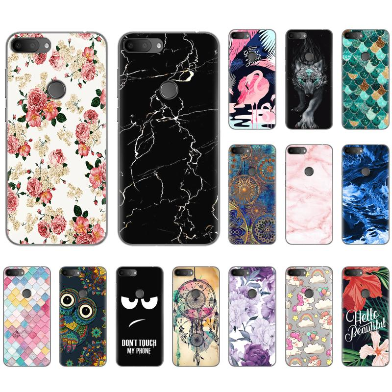 Soft Phone Case For Alcatel 1S 2019 5.5-inch Fashionable Pattern TPU Silicone Cover Colorful Painted Soft Case