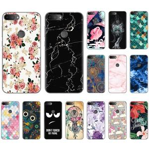 Soft Phone Case For Alcatel 1S 2019 5.5-inch Fashionable Pattern TPU Silicone Cover Colorful Painted Soft Case(China)