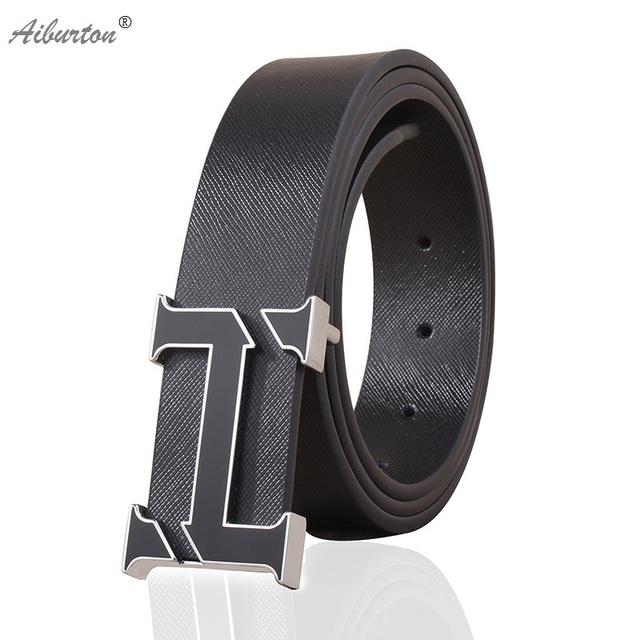 2016 Moda Hombre Cinturón de Cuero de la Marca h hebilla de los hombres cinturones de diseño Estilo de la alta calidad de lujo blanco negro 125 cm cinturones hombre