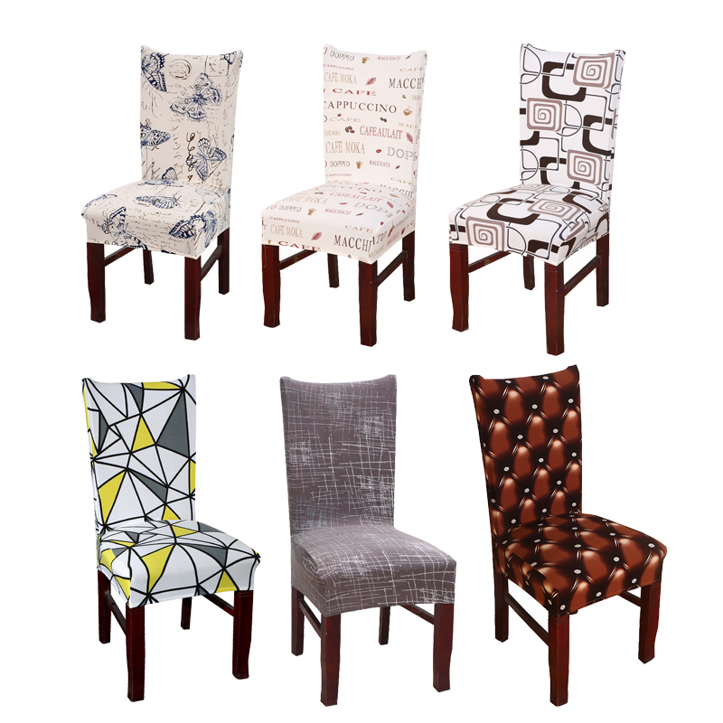 Butterfly Geometric Printing Modern Dining Room Chair Cover Universal Size Spandex Stretch Chair Seat Cover Protector Seat Case