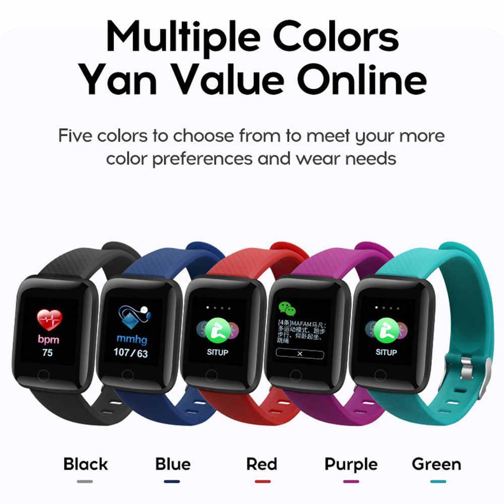 Reloj inteligente Cewaal D13 para hombres y mujeres para teléfonos Android Apple rastreador de ritmo cardíaco a prueba de agua presión arterial oxígeno deporte reloj inteligente