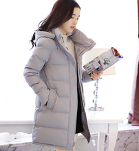 Wadded jacket outerwear women winter 2016 down cotton-padded jacket medium-long slim with a hood thickening cotton-padded JX219