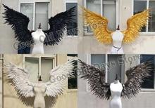Ангел демон крыло мультфильм перо Крылья ангела для модные выставки Свадебный съемки реквизит Косплэй фотографии игра костюм