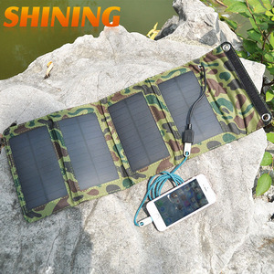 Image 2 - NEW! Frosted Waterproof 7W 5V Portable Folding Mono Solar Panel Charger USB Output Controller Pack for Phones iPhone PSP MP4