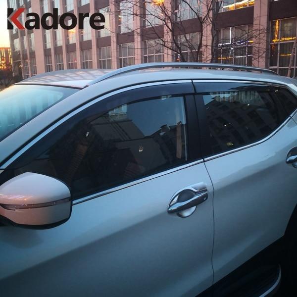 Chrome Window Visor Vent for 2014 2018 Nissan Qashqai
