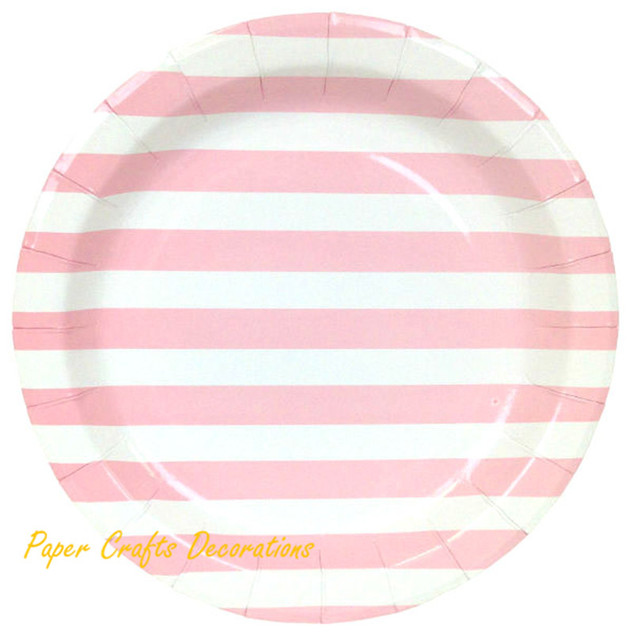 12pcs/lot 9inch Baby Pink Striped Theme Party Round Paper Plates Wedding Cupcake Tableware Party  sc 1 st  AliExpress.com & 12pcs/lot 9inch Baby Pink Striped Theme Party Round Paper Plates ...