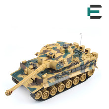 ET RC Tank 99808 1/20 9CH 40Mhz Infrared RC Battle Tiger Tank Cannon&Emmagee remote control tank fort rotate Fighting Tank