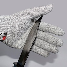 1 Pair Working Safety Gloves Proof Protect Stainless Steel Wire Cut Metal Mesh Butcher Anti-cutting breathable Gloves rebune cut resistant working gloves with stainless steel wire protective safety gloves metal tactical butcher steel glovesre8004