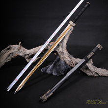 Hand Forged Chinese Han Sword High Manganese Steel Decorative Pattern Blade Sharp Edge Real Sword Vintage Best Gift