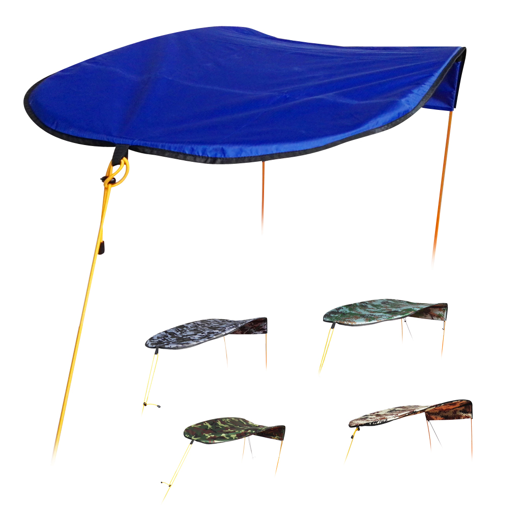Outdoor 1-person Inflatable Boat Canoe Kayak Sun Shelter Awning Top Cover Sun Shade Blue for Camping Hiking Fishing Equipment outdoor 1 person inflatable boat canoe kayak sun shelter awning top cover sun shade blue for camping hiking fishing equipment