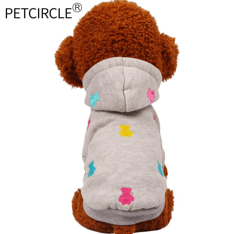 új 2017 Forró kisállat kutya ruhák ősszel és télen hímzett - Pet termékek - Fénykép 2