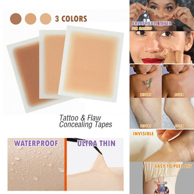 1Pc High Quality Tattoo Flaw Concealing Stickers Patch Perfectly Stick On Body Arms Legs Face Neck Suitable For Any Skin Type