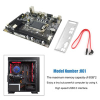 H61 Desktop Computer Mainboard Motherboard LGA 1155 Pin CPU Interface Upgrade USB2.0 DDR3 1600/1333 2 X DDR3 DIMM memory slots