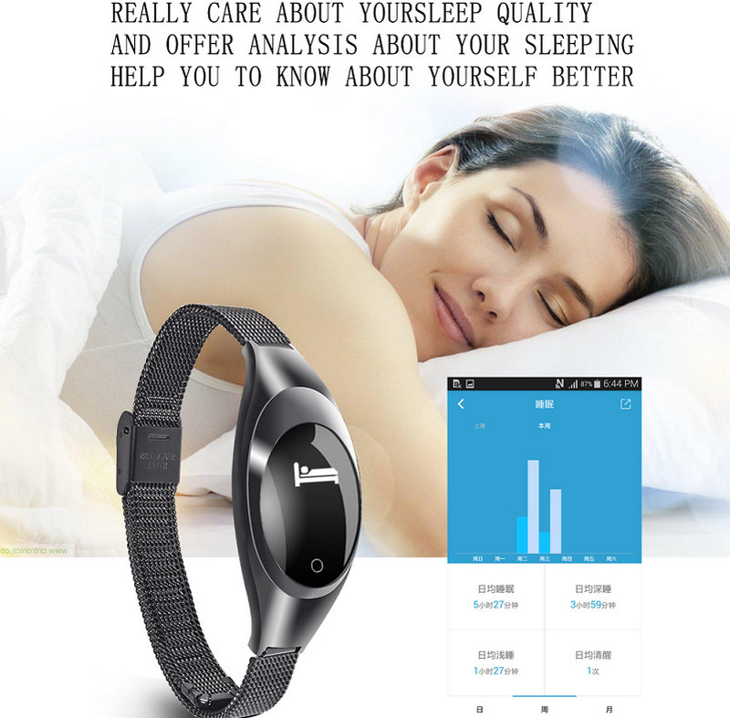Z18 Red White Black Women Sport Bluetooth Smart Bracelet Fitness Pulsometer Heart Rate Monitor Smartband On Wrist ZIMINGU 17 19