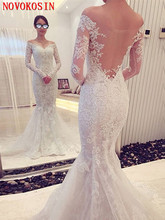 High Quality Appliqued Lace Mermaid Wedding Dress 2019 Off The Shoulder Backless Court Train Tulle Bridal Gown