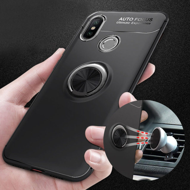 quality design 12d86 afba2 Magnetic Car Holder Case For Xiaomi Redmi note 5 Silicone Metal Ring Magnet  Case For Xiaomi redmi note 5 pro Global version