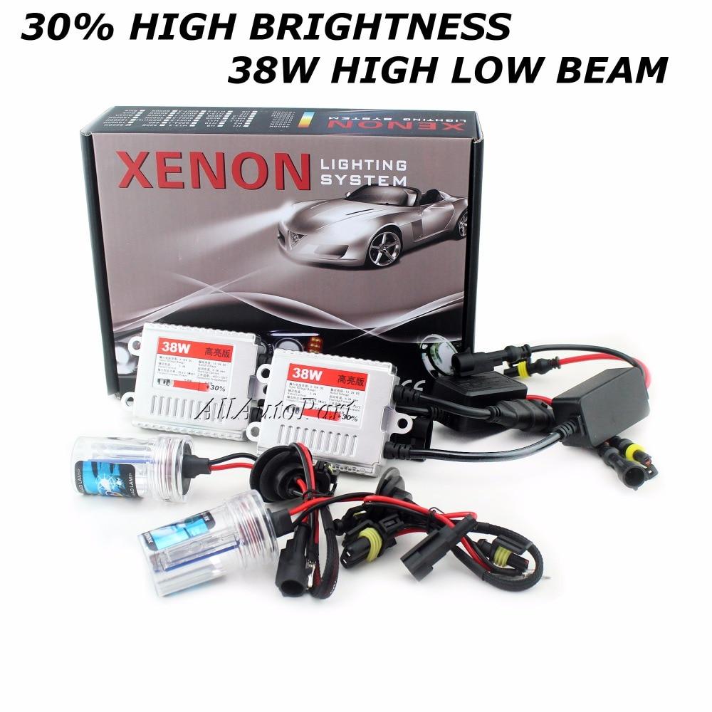 2017 + 30% kit Xénon Caché Kit 38 W H4 H1 H3 xénon H7 H8 H10 H11 H27 HB3 HB4 H13 9005 9006 source lumineuse de voiture Phares ampoules lampe