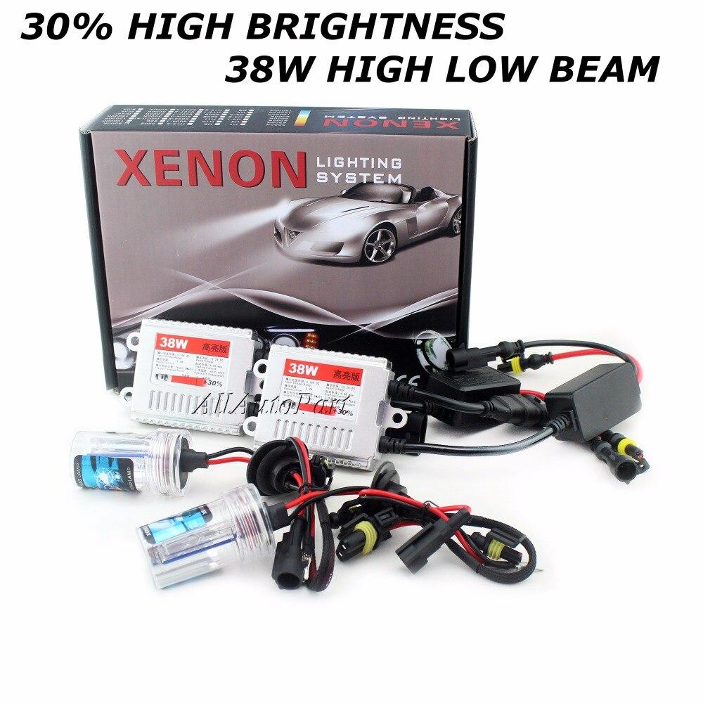 2017 + 30% kit Xenon kit hid 38 W H4 H1 H3 xenon H7 H8 H10 H11 H27 HB3 HB4 h13 9005 9006 phare de voiture source ampoules de phare lampe