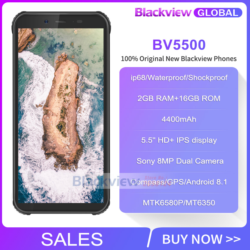 "Image 2 - Blackview BV5500 IP68 Waterproof Rugged Smartphone 2GB+16GB 5.5"" 18:9 Screen 4400mAh Android 8.1 3G Mobile Phone GPS-in Cellphones from Cellphones & Telecommunications"