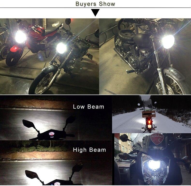 6000k Ba20d Led Motosiklet fənərləri Scooter Light H6 Ba20d Lampa - Motosiklet aksesuarları və ehtiyat hissələri - Fotoqrafiya 6