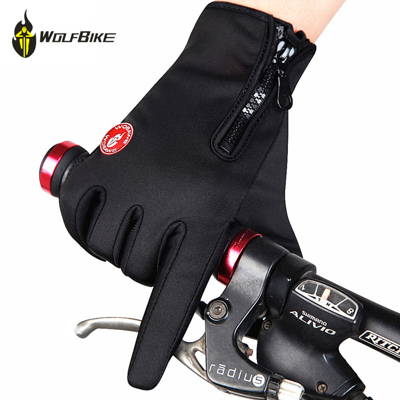 WOSAWE Thermal Windproof Motorcycle Gloves Tactical Mittens Fleece Warmth Bicycle Sports Hiking Skiing Cycling Gloves