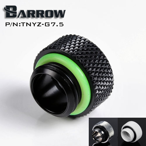 Barrow G1 / 4 female thread straight docking seat tube(Extend 7.5mm) computer water cooling fitting TNYZ-G7.5 barrow white black red g1 4 3 8od x 5 8od 10 x 16mm tubing hand compression fittings water cooling fitting