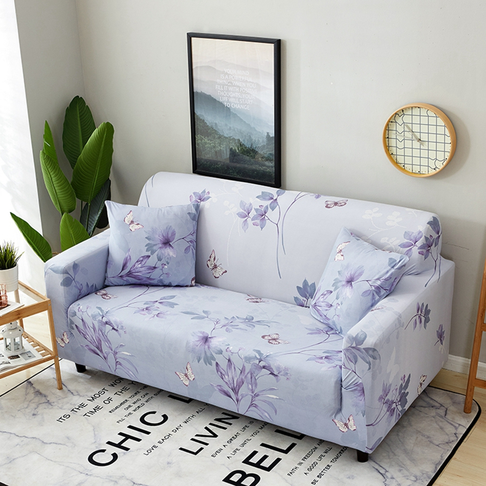 Slipcover Furniture Living Room: Lavender Sofa Slipcover Rp 2 Seater Sofa Cover Loose Fit
