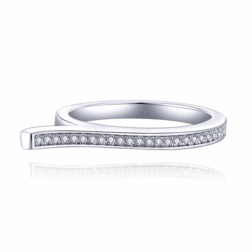 Aliexpress : Buy Classic 100% Real 925 Sterling Silver Finger Ring Aaa  Cz Diamond Engagement White Gold Rings For Women Wedding Jewelry Wholesale  From