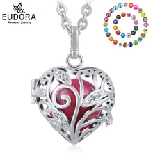 Angel Caller Pendulum Mexico Bola Silver Plated  Eudora Harmony Ball Baby Chime Sound Floating Locket Wing Pendant Jewelry