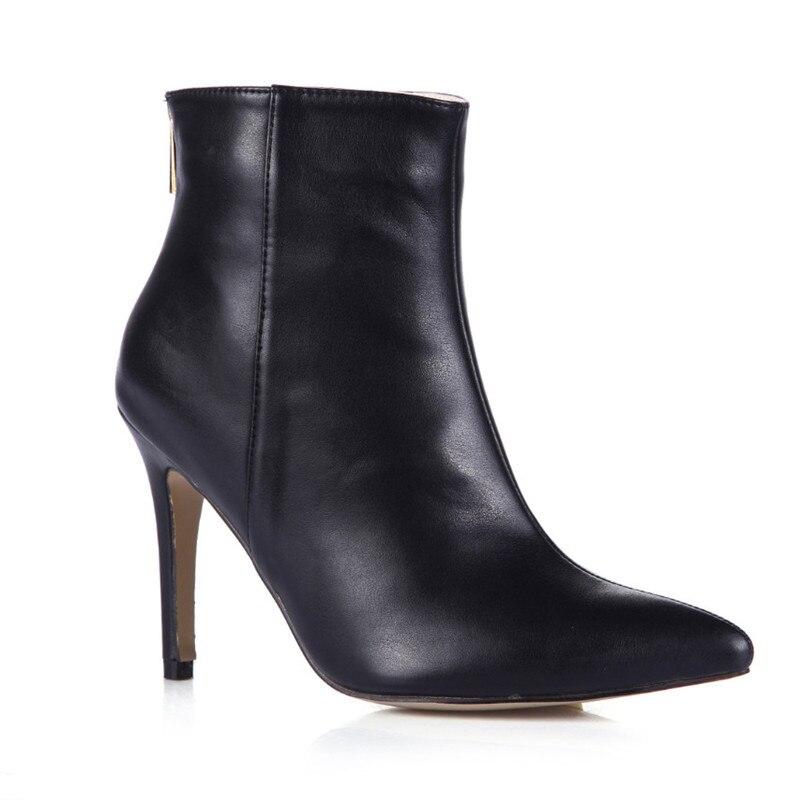 Nouvelle arrivée bottines noires femmes chaussures bout pointu bottines pour femmes talons hauts Stelitto talon automne bottes femmes pompes