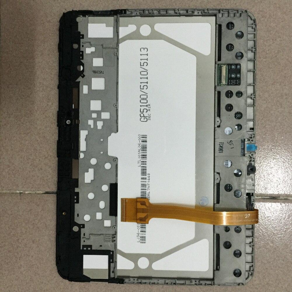 ЖК-дисплей Дисплей Мониторы модуль + Сенсорный экран Сенсор Панель планшета Ассамблея + Рамки для Samsung Galaxy Tab 3 10.1 P5200 GT-P5210