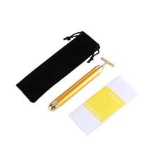 Pro Slimming Face 24k Gold Lift Bar Vibration Facial Beauty Care Vibration Facial Beauty Massager Energy