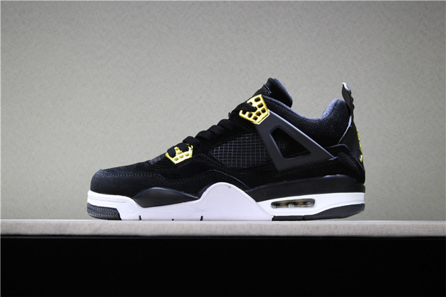 7a6d5bb04ee JORDAN Air Retro 4 Skateboarding Shoes,Black/Gold Color JORDAN Sneakers  Men's Skateboarding Shoes Jordan 4 ROYALTY Sports Shoes