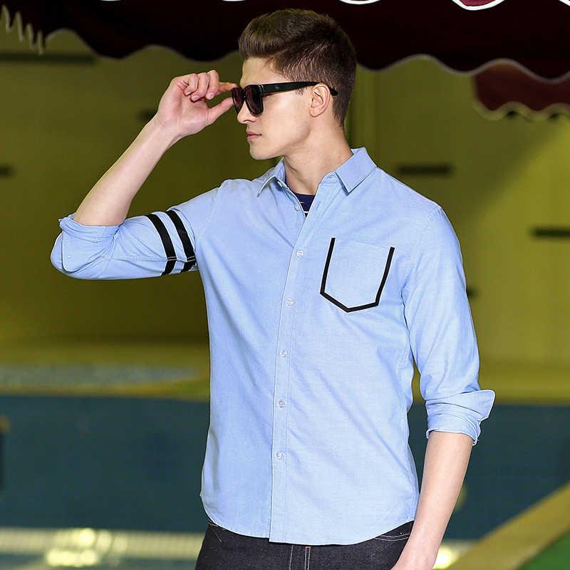 Пионерский лагерь, новинка, Повседневная рубашка, Мужская брендовая одежда, модная, с длинным рукавом, мужская рубашка, высокое качество, 100% хлопок, серый, синий, ACC701044