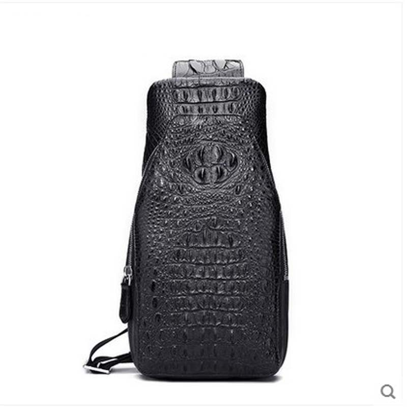 hlt Thai crocodile skin men chest bag genuine leather is a high-volume, one-shoulder, one-shoulder bag щипцы hlt 10