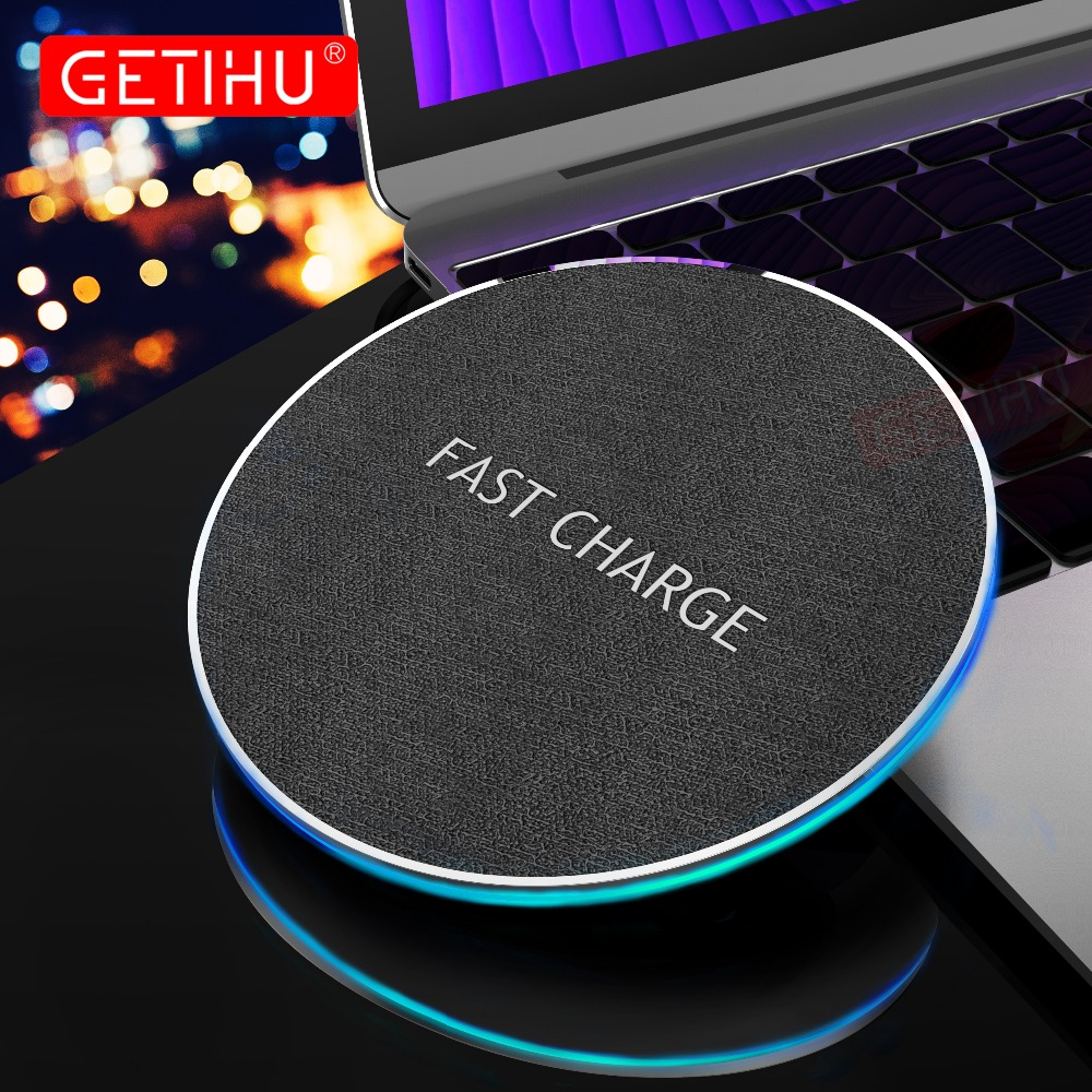 GETIHU Qi Wireless Charger 10W Fast For iPhone 8 Plus X Wireless Charging Pad For Samsung S8 Note 8 QC Wirless Charger for Phone