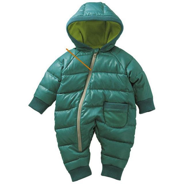 Bebé ropa de invierno al por menor del clip del bebé de algodón gruesa chaqueta acolchada mamelucos, niños abajo y abrigos esquimales Adecuado-$ number meses bebé