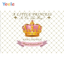Yeele Vinyl Golden Crown Princess Newborn Baby Shower Party Photography Background Girl Photographic Backdrop Photo Studio
