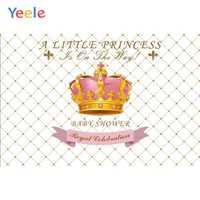 Yeele Vinyl Goldene Krone Prinzessin Neugeborenen Baby Shower Party Fotografie Hintergrund Mädchen Fotografischen Hintergrund Foto Studio