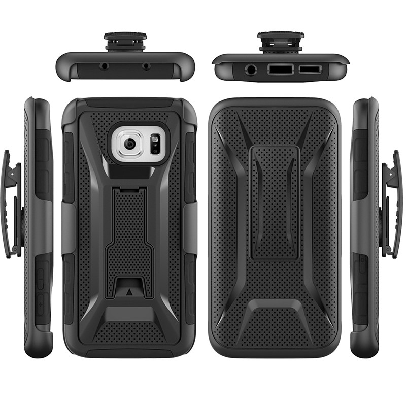 S7/S7 Edge Belt Clip Holster Back Cover Case Soft TPU+Plastic Armor Phone Cover for Samsung Galaxy S6 S6 Edge Note 5 Note 7