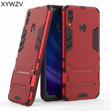 hot deal buy huawei y9 2019 case cover armor rubber hard back phone case for huawei y9 2019 silicone cover huawei y9 2019 kickstand fundas